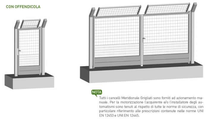 Cancelli in ferro LUDUS per impianti sportivi di Emmegi Grigliati Spa