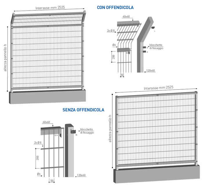 Recinzione in grigliato metallico per impianti sportivi Sport di Emmegi Grigliati SpaRecinzione in grigliato metallico per impianti sportivi Sport di Emmegi Grigliati Spa