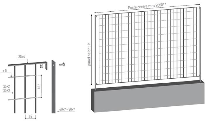 svevia grating fence mesh 62x132 emmegi